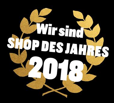 Wir sind Shop des Jahres 2018